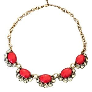 """Stella & Dot """"Mae"""" necklace. Red/Gold"""